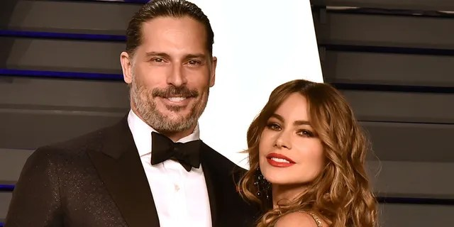 Joe Manganiello and Sofia Vergara attend the 2019 Vanity Fair Oscar Party at Wallis Annenberg Center for the Performing Arts on February 24, 2019 in Beverly Hills, California.
