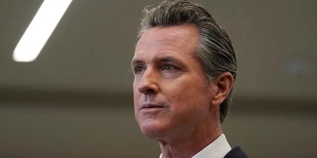 California Gov. Gavin Newsom speaks at a news conference in Oakland, California, July 26, 2021. (Associated Press)