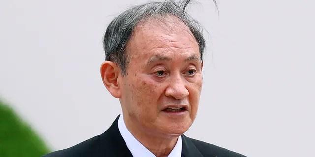 Japan's Prime Minister Yoshihide Suga speaks in Nagasaki, Japan, Aug. 9, 2021. (Associated Press)