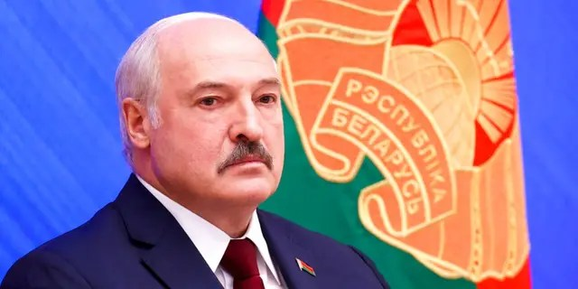 Belarusian President Alexander Lukashenko attends an annual press conference in Minsk, Belarus, Monday, Aug. 9, 2021.