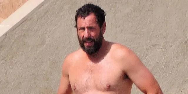 Adam Sandler was seen on the beach in Spain on Sunday.