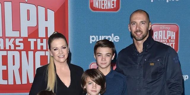 Melissa Joan Hart and her family, circa 2018.