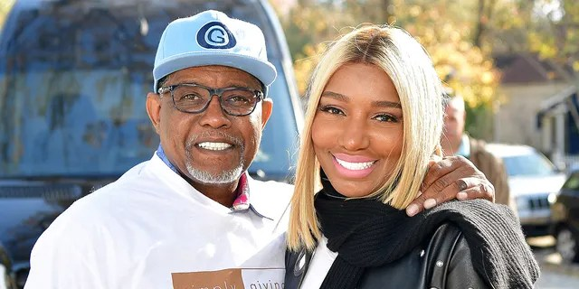 ATLANTA, GA - NOVEMBER 19: Gregg Leakes and Nene Leakes attend Thanksgiving Meal Giveaway with Nene and Marlo at Gio's on November 19, 2017 in Atlanta, Georgia. (Photo by )