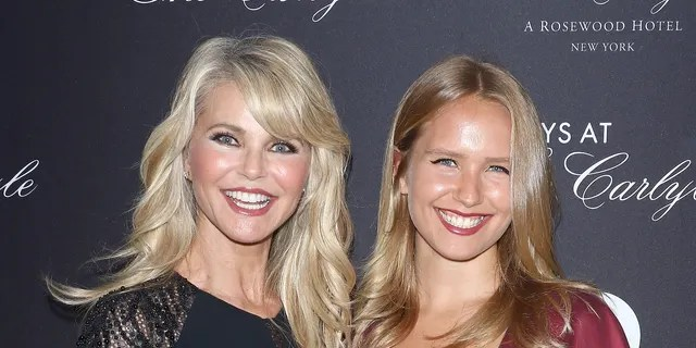 Model Christie Brinkley and sailor Lee Brinkley-Cook attend the New York premiere of 'Always at the Carlyle' at the Paris Theater on May 8, 2018 in New York City.