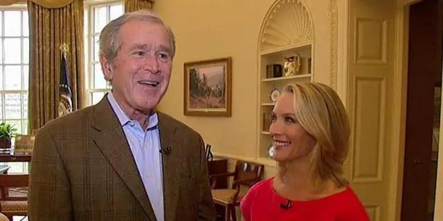 Former Pres. George W. Bush and Dana Perino
