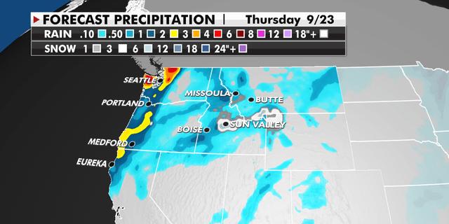 Forecast precipitation for the Northwest