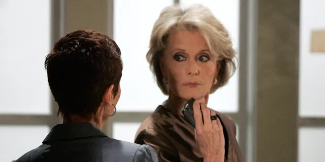 """Constance Towers on the set of """"General Hospital"""""""