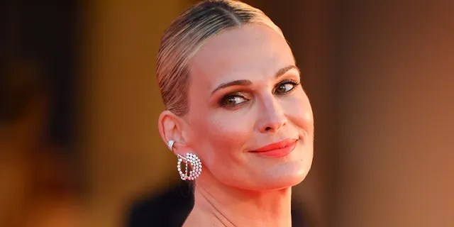 Molly Sims attends the red carpet of the movie 'The Hand Of God' during the 78th Venice International Film Festival on September 02, 2021 in Venice, Italy.