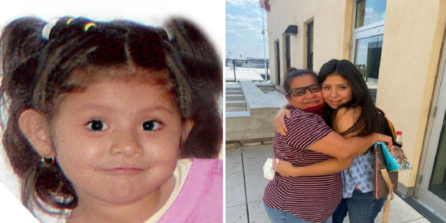 Jacqueline Hernandez, shown left in 2007 when she was abducted, recently was reunited with her mother. (Florida Department of Law Enforcement/Clermont Police Department)