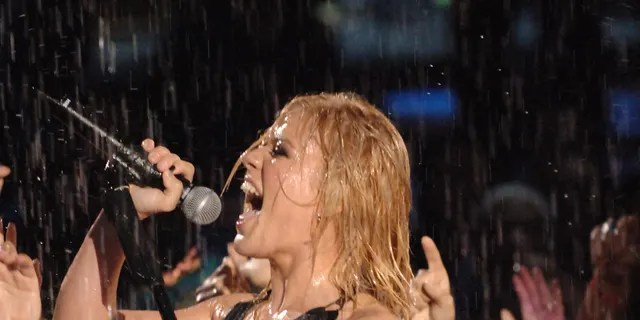 Kelly Clarkson performs 'Since You've Been Gone' during 2005 MTV Video Music Awards show at American Airlines Arena in Miami, Florida.