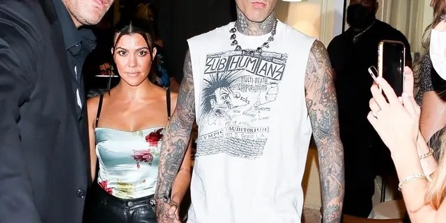 Travis Barker and Kourtney Kardashian dined in New York City after the 2021 VMAs.