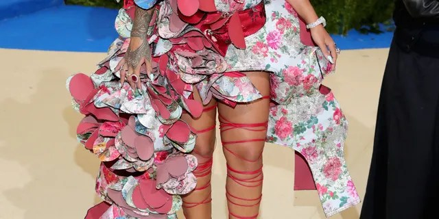 Rihanna attends the 'Rei Kawakubo/Comme des Garcons: Art of the In-Beach' Costume Institute Gala at the Metropolitan Museum of Art on May 1, 2017 in New York City.