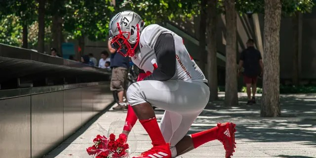 Rutgers players will wear red cleats.