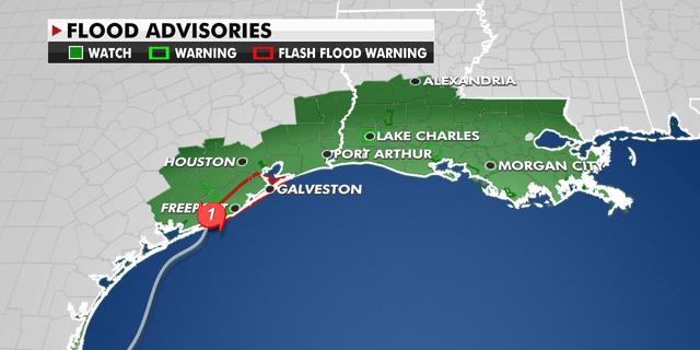 Flood Advisories in Texas