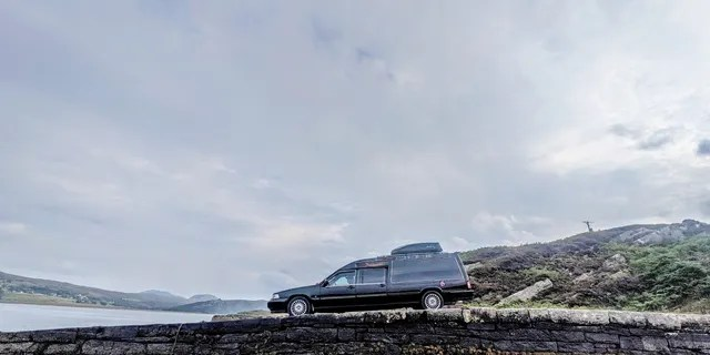 """Orr and Cameron plan to use their hearse for """"all our future road trips,"""" Orr said."""