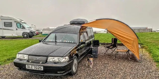 They saw the converted hearse advertised on Facebook and bought it for $4,826 (£3,500).