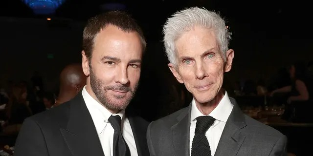 Tom Ford and Richard Buckley in 2017. The couple met in 1986 and married in 2014.