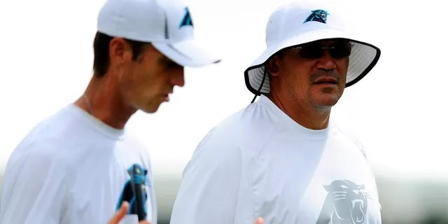 Ryan Vermillion, left, spent time on Ron Rivera's staff while the two were in Carolina.