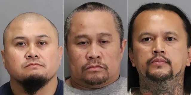 Francis Dagayray, Eutropio Dagayray, and Gilbert Meriales were arrested last week in connection with a 2001 fatal stabbing in San Jose, California. (San Jose Police Dept.)