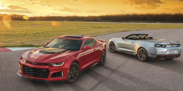 Along with the Mustang, the Chevrolet Camaro is available as a coupe or convertible.