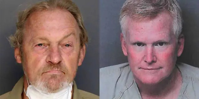 Curtis Eddie Smith (left) is accused of shooting Alex Murdaugh (right) in an alleged botched suicide plot.