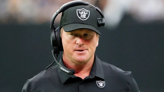 Raiders head coach resigns after homophobic, misogynistic emails revealed