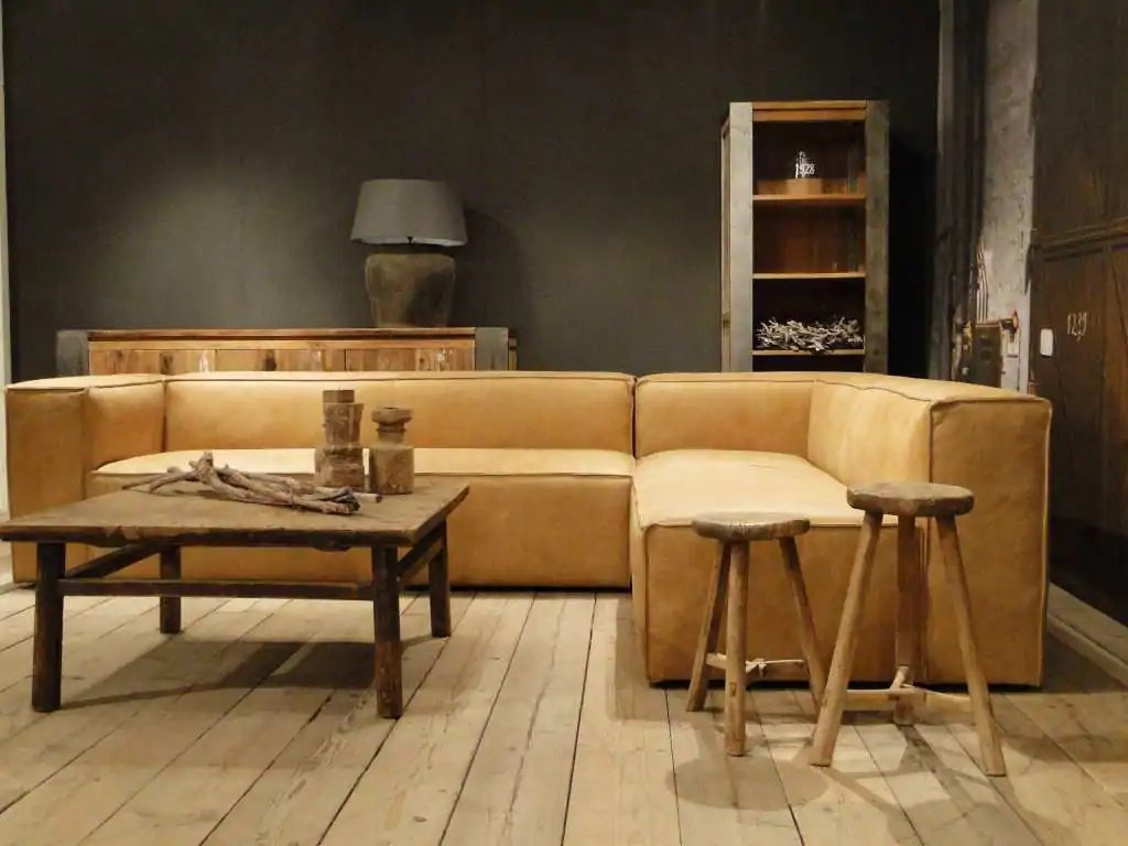Grijze hoekbank met chaise longue Rigolato  robuustetafelsnl