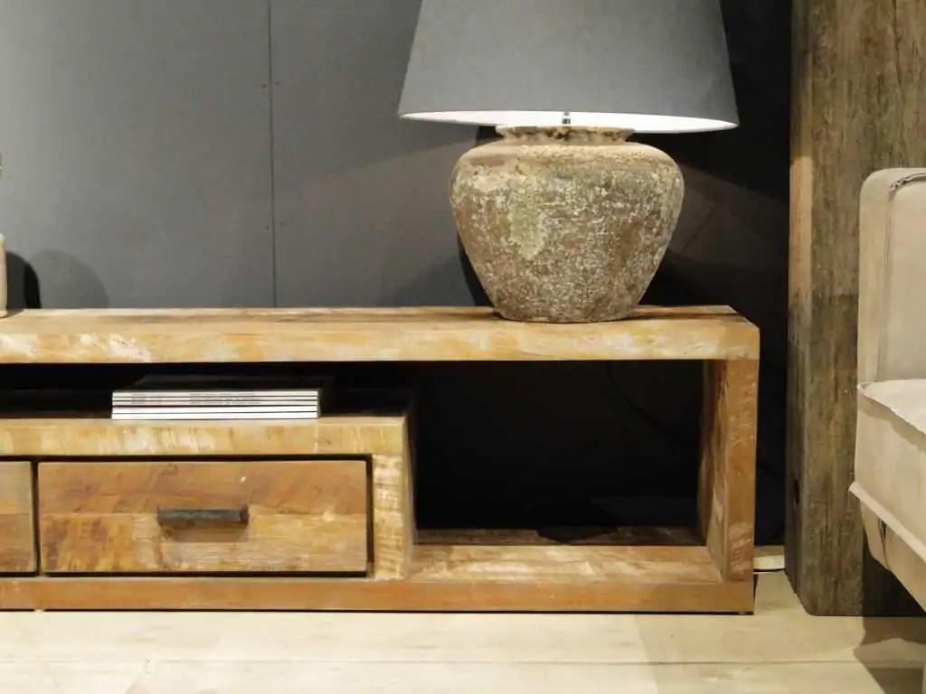 TVmeubel hout Orvault van recycled teak  robuustetafelsnl
