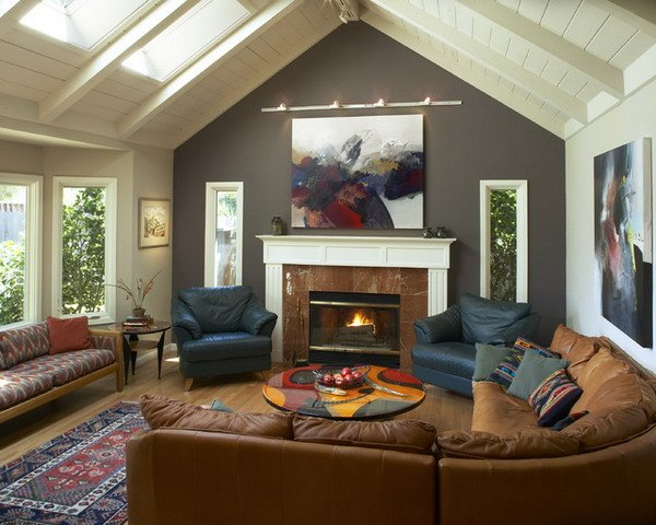 20 Beautiful Living Room Accent Wall Ideas