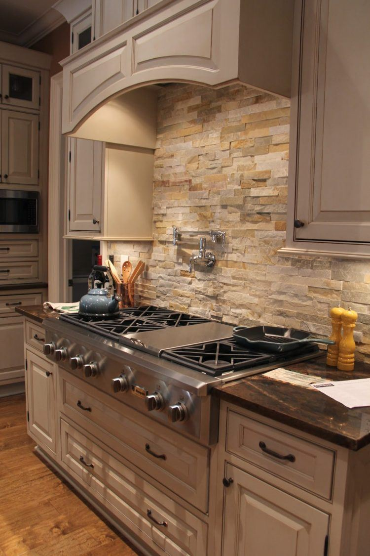 Stone Tile Kitchen Backsplash Ideas