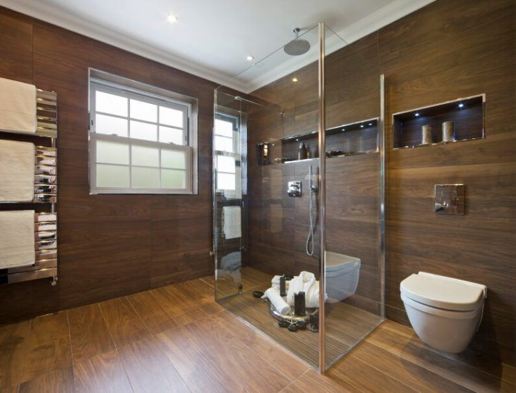 20 Amazing Bathrooms With Wood-Like Tile