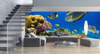 20 Living Rooms With Beautiful Wall Mural Designs