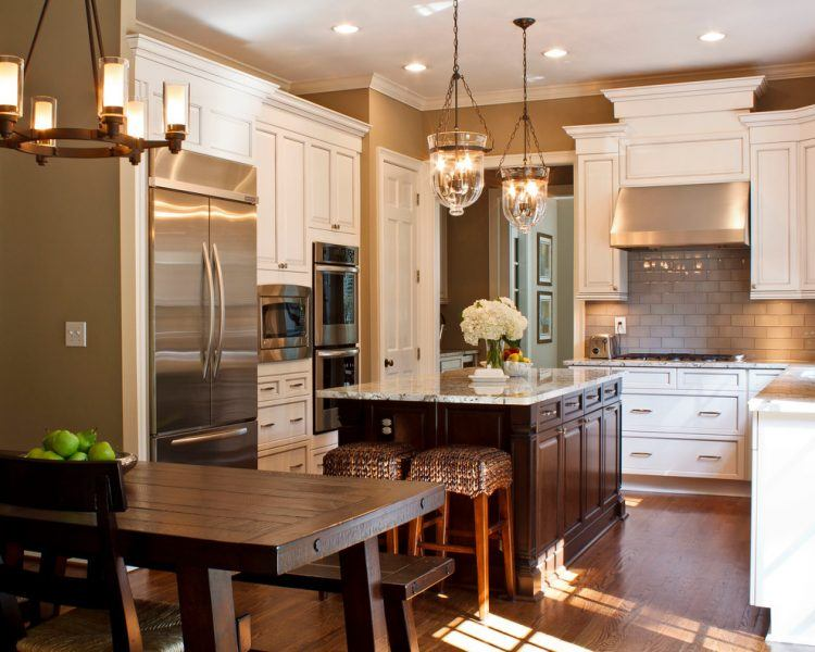 10 Beautiful Kitchens With Brown Walls