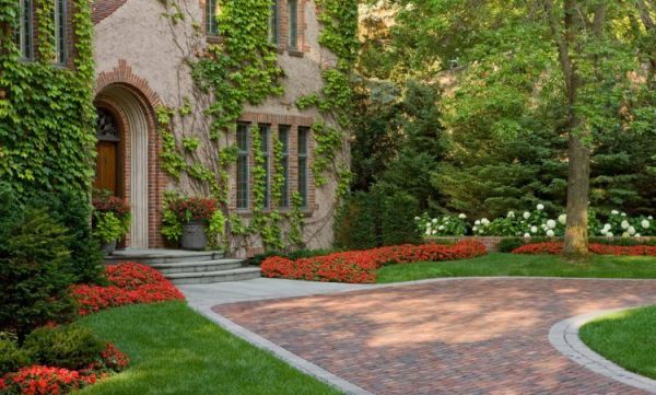 homes with stunning brick driveways