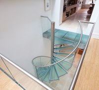 20 Amazing Glass Spiral Staircase Designs