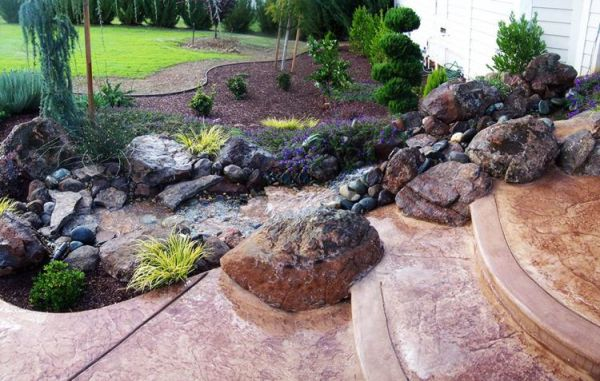 of beautiful rock garden