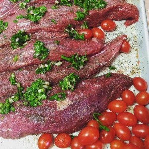 Adam made his delicious ChimiChurri today!  Want the recipe? Read below...