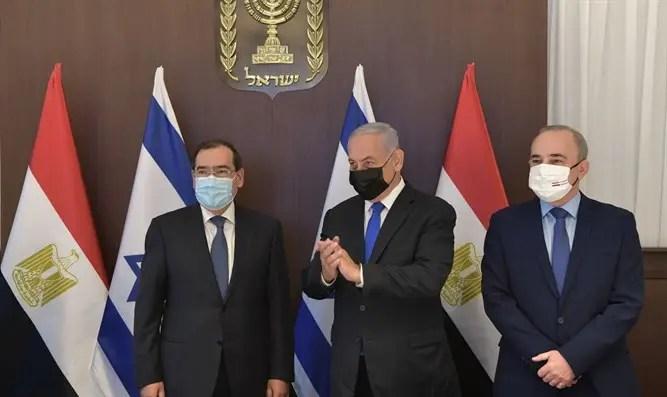 Netanyahu se reunió con el canal 7 del ministro de Petróleo de Egipto