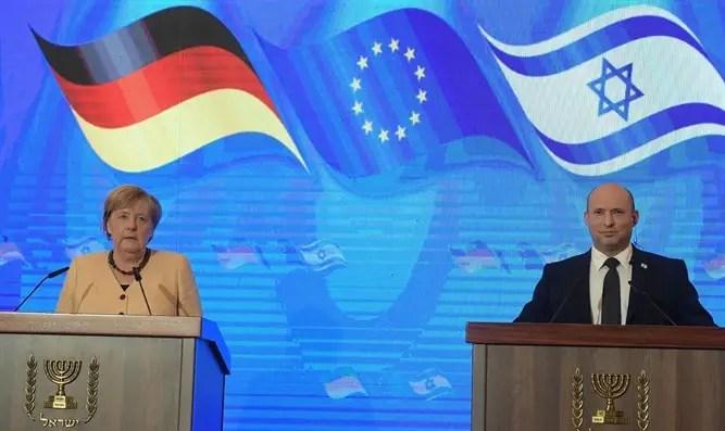 Bennett y Merkel en la conferencia de prensa