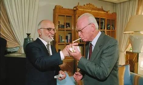 Image result for king hussein yitzhak rabin