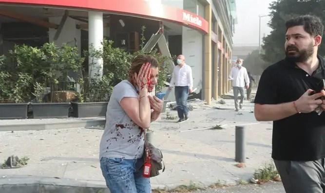 רחובות ביירות לאחר הפיצוץ