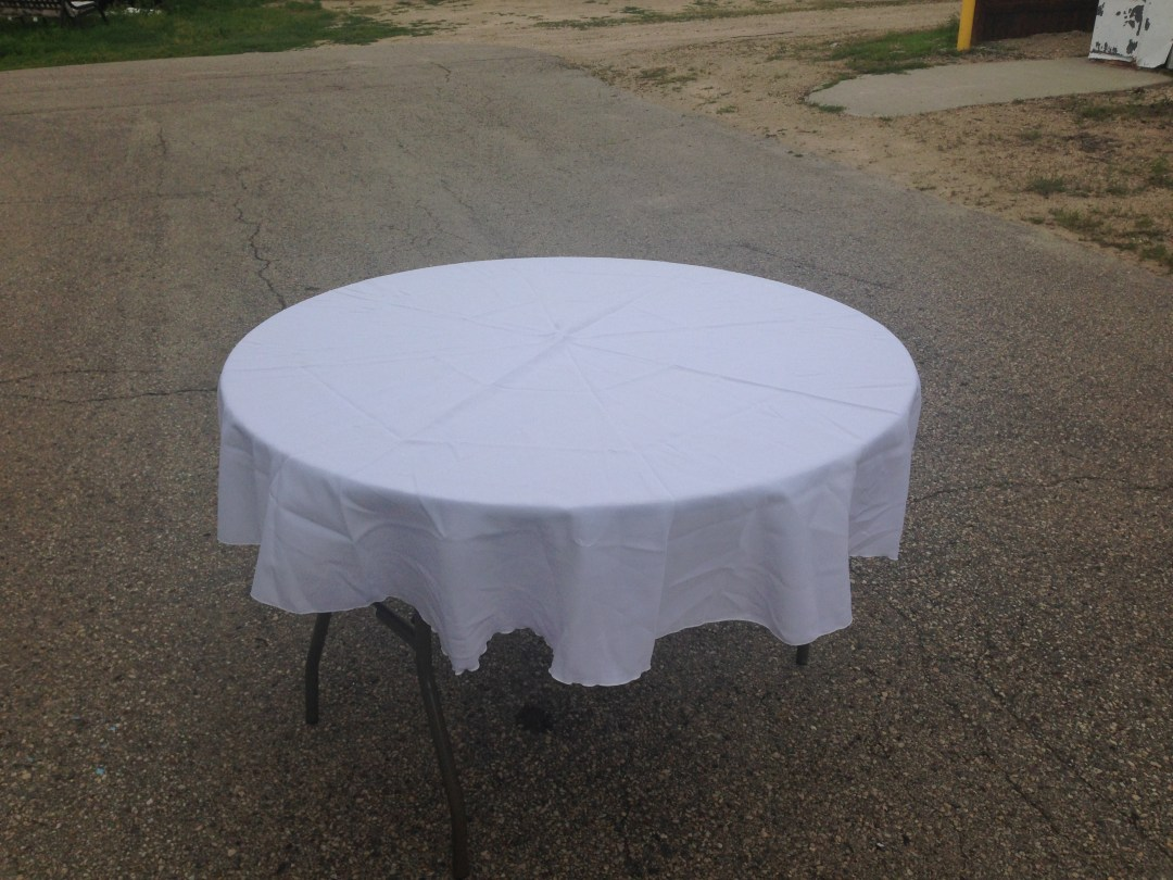 "Round Tablecloth 48"" Image"