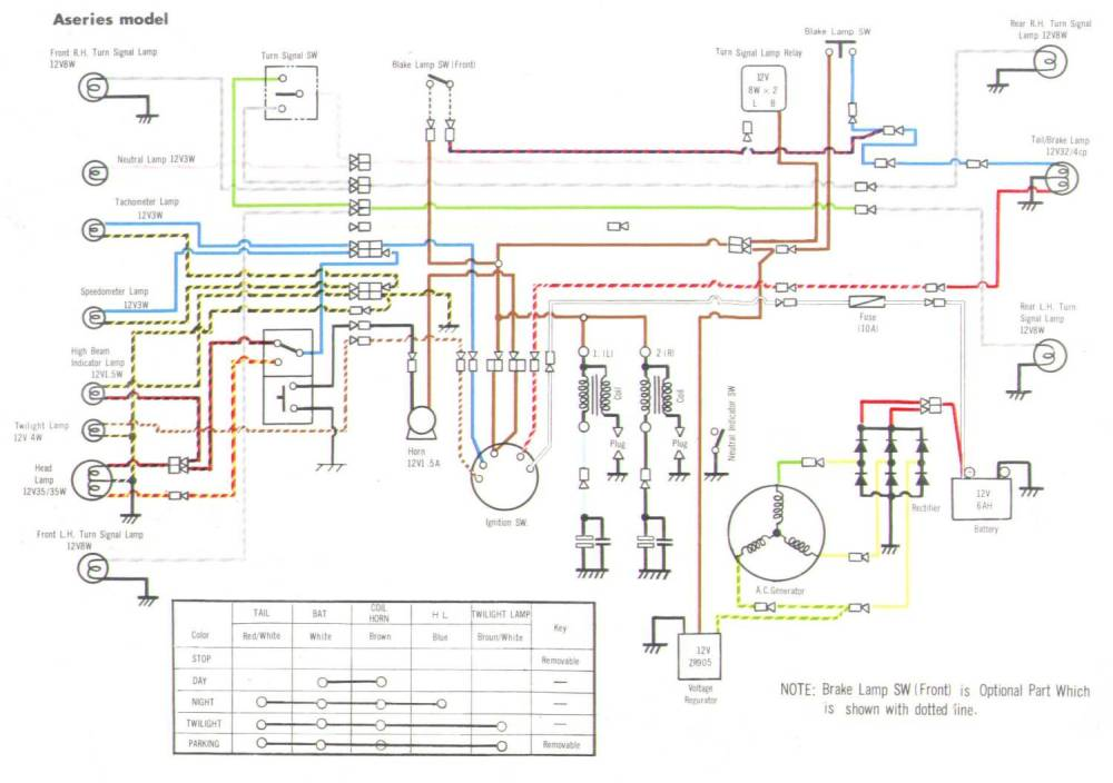 medium resolution of kawasaki a7 wiring diagram