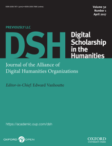 DSH or Digital Scholarship in the Humanities
