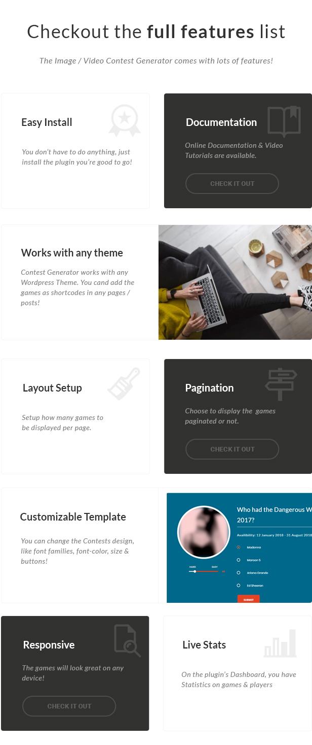 Image / Video Contest Generator WordPress Plugin - 2