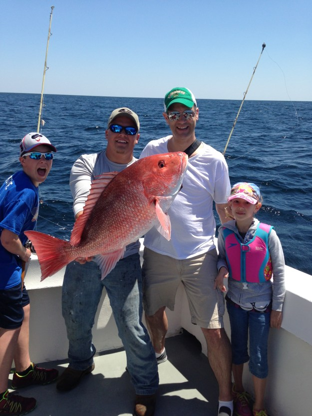 family red snapper fishing