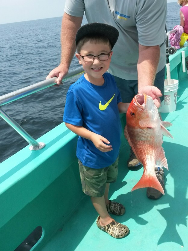 red snapper fishing on Orange Beach deep sea party boat charter