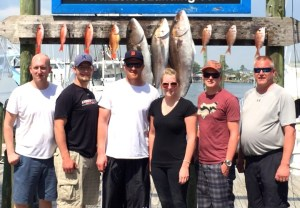 MI anglers catch of amberjack snappers deep sea fishing orange beach al on Jamie G captain Gary