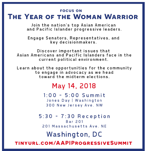 Join the nations top Asian American and Pacific Islander progressive leaders engage senators, representatives and key decisionmakers.