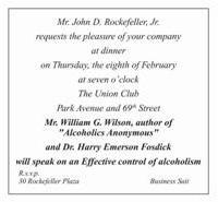 Rockefeller Invite
